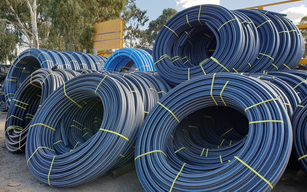 Acu-Water PE Pipes for water transport. A good alternative for PVC water pipe
