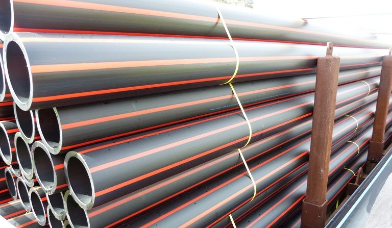 PE Fire Pipe Stockpile - Sml