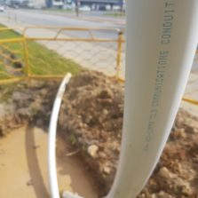 Acu-Comms HDPE coex conduit on site