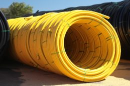 Acu-Gas Yellow Coil Fully Yellow Exterior Gas Pipe Manufacturer