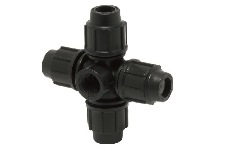 Compression Fitting Cross with Threaded Offtake