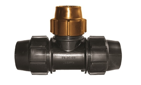 Compression Fitting Poly to Copper Tee