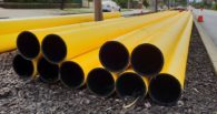 HDPE Gas Pipe on Site - Sml