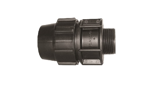 PE Compression Fitting Male Adaptor