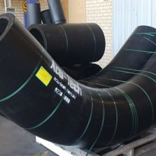 custom made fabricated HDPE Sweep Bend fittings