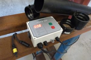 EF Electrofusion Drainage Welder on Site