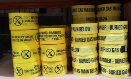 Detectable marking tape for Gas Mains and Non-Detectable marking tape for Gas Mains