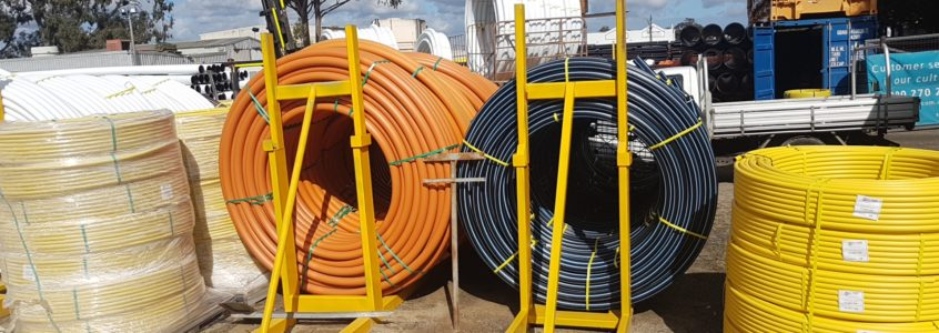 HDPE pipes in different colors
