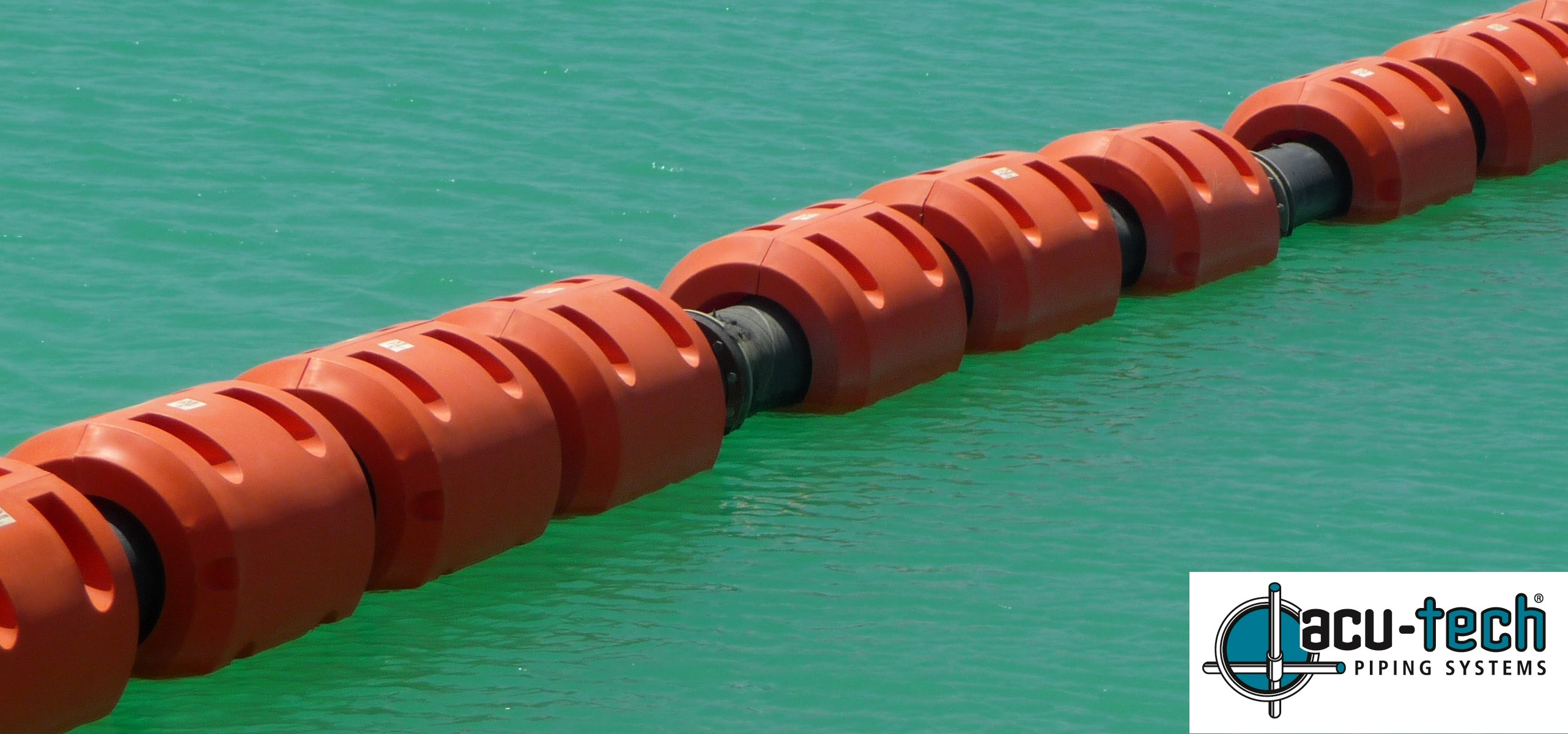 Pipe Floats for HDPE Poly Pipe | Acu-Tech Piping Systems