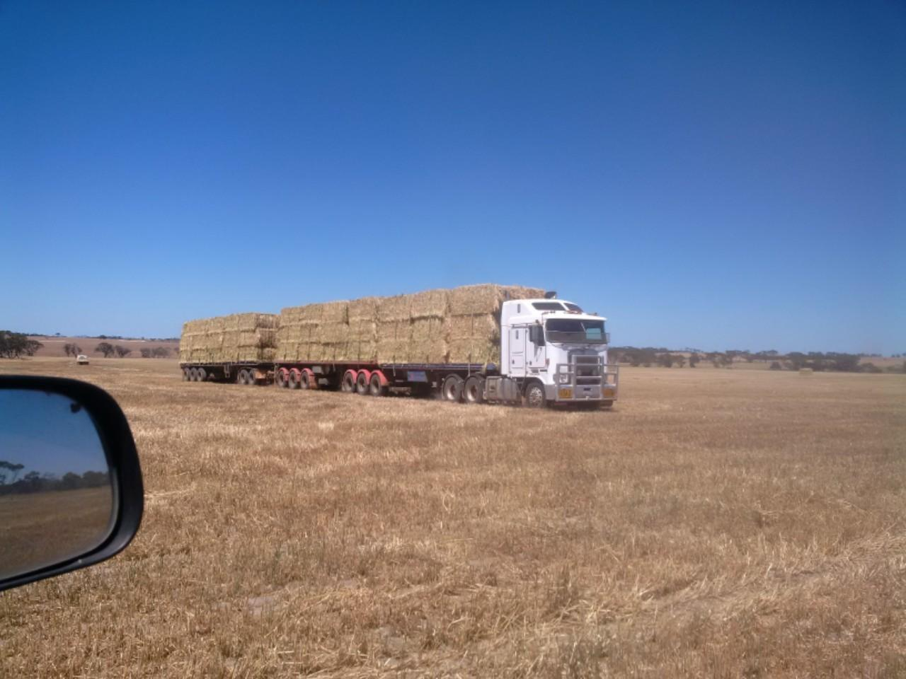 A Hay Truck bound for NSW
