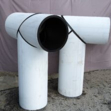 HDPE Fabricated White Tee