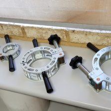 Re-rounding clamps for HDPE pipe rounding