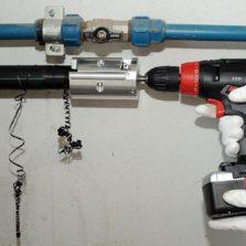 HDPE Pipe Scraper Drill Attachment Turbo Pipe Scraper Tool for PE Pipe