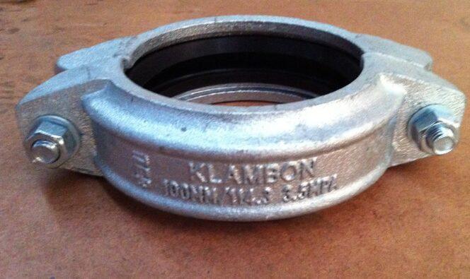 100NB Gal Shouldered 2 bolt Coupling - Sml