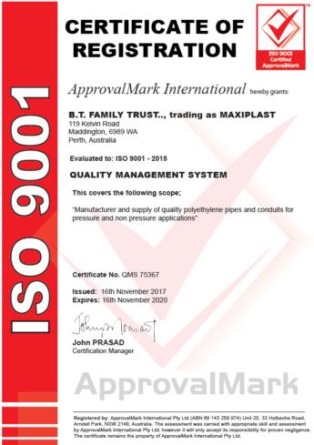 maxiplast-iso9001