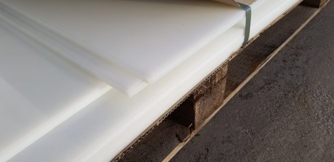 HDPE poly sheet white – Sml