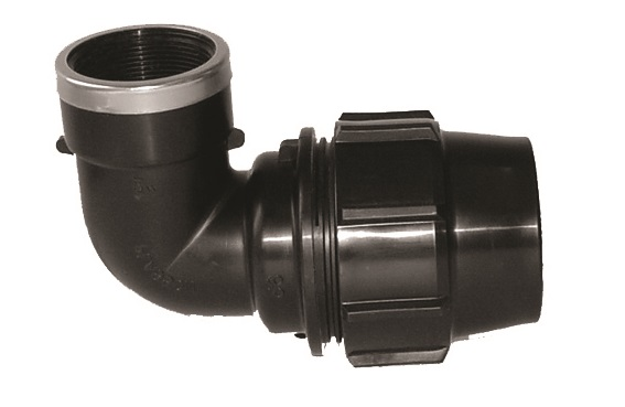 90 degree Elbow with Female End Compression Fittings