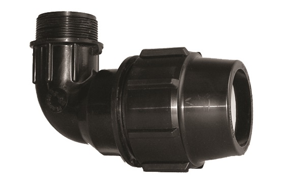 90 degree Elbow with Male End Compression Fittings