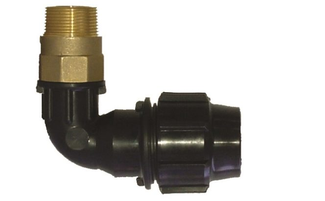 90 degree elbow with brass thread Compression Fitting
