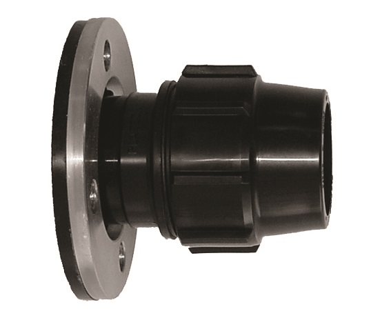 Flanged Compression Coupling with Metal Backing Flange