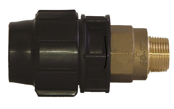 Male Adaptor with male brass thread Compression Fitting