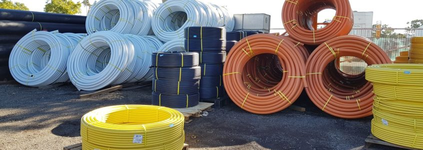 Photos of HDPE pipe